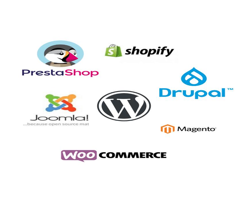Logos des CMS pour création des sites web
