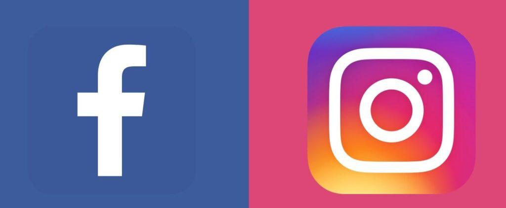 Représentation des logos de Facebook et Instagram